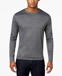 Alfani Men's Soft Touch Stretch Long Sleeve T Shirt Only At Macy's Heather Onyx