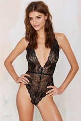 Nasty Gal Whole Lotta Rosie Lace Bodysuit