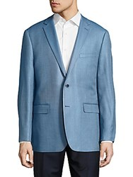 Vince Camuto Classic Fit Hopsack Silk Blend Sportcoat Light Blue
