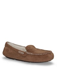 Ugg Ladies Ansely Suede Slippers Chestnut