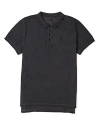 Religion Polo Shirt In Oil Wash Black