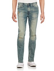 Calvin Klein Slim Fit Distressed Jeans Fatigue