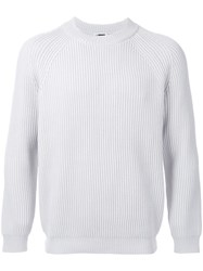 H Beauty And Youth. Ribbed Jumper Grey