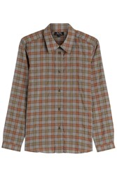 A.P.C. Plaid Cotton Shirt Multicolor