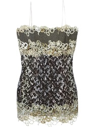 Mary Katrantzou Lace Bustier Dress Green