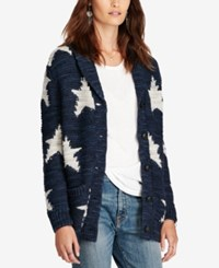 Denim And Supply Ralph Lauren Boyfriend Shawl Cardigan Dark Blue Multi
