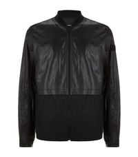 Alexander Wang Crinkle Leather Bomber Jacket