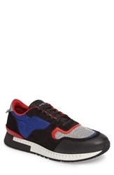 Givenchy Men's Mixed Finish Sneaker Electric Blue