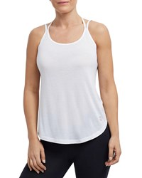 The Balance Collection Elsie Double Strappy Tank White