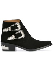 Toga Double Buckle Boots Black
