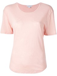 James Perse Scoop Neck T Shirt Pink Purple