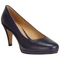 John Lewis Alicia Platform Cone Heeled Court Shoes Navy
