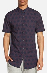 Zanerobe Men's 'Seven Ft.' Elongated Short Sleeve Print Woven Shirt