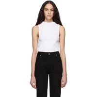 Telfar White Mock Neck Halter Top