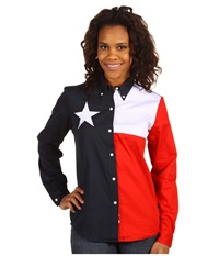 Roper Texas Pieced Flag Shirt Natural Women's Clothing Beige