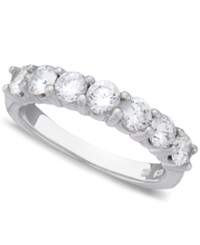Macy's Seven Diamond Anniversary Band Ring In 14K White Gold 1 Ct. T.W.