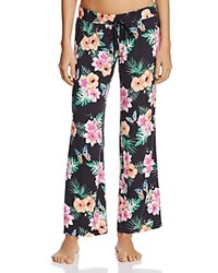 Pj Salvage Meet Me At Suns Floral Pants Black