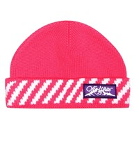 Off White Exclusive To Mytheresa Appliqued Wool Beanie Pink