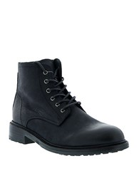 Blackstone Leather Lace Up Boots Black