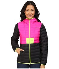 Columbia Flashback Down Jacket Black Groovy Pink Fission Women's Coat