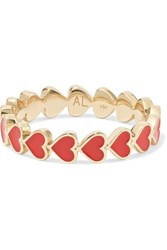 Alison Lou Heart Stack 14 Karat Gold And Enamel Ring 5