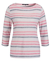 Olsen Pastel Stripe T Shirt Blush