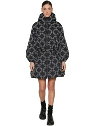 Valentino Vltn Printed Zip Up Quilted Nylon Coat Array 0X577a928