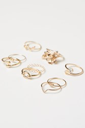 Handm 9 Pack Rings Gold
