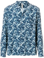 Dnl Foliage Print Shirt Blue
