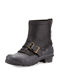 Original Biker Short Rain Boot Hunter Boot Black