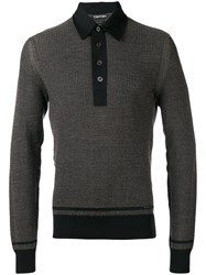 Tom Ford Textured Knit Sweater Men Silk Cotton Cashmere 52 Black