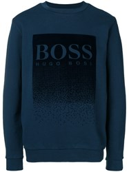 Hugo Boss Logo Patch Sweatshirt Blue
