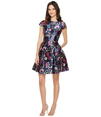 Ted Baker Fluxam Folk Foliage Skater Dress Dark Blue Women's Dress