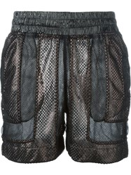 Ktz Panelled Mesh Shorts Black