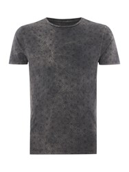 Label Lab Graphic Scoop Regular Fit T Shirt Dark Grey