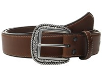 Ariat Scroll With Concho Belt Brown Men's Belts