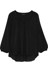 Hatch The Sahara Crepe De Chine Blouse Black