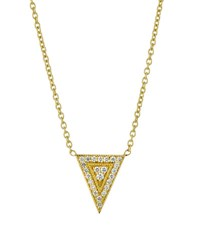 Penny Preville 18K Medium Diamond Triangle Pendant Necklace