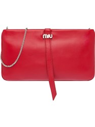 Miu Miu Nappa Leather Clutch Red
