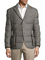 Ralph Lauren Worsted Woolen Puffer Jacket Dark Smoke Grey