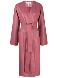 Loewe Belted Oversized Coat Pink