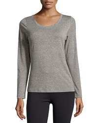 Zobha Draped Back Performance Tee Heather Gray