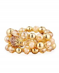 Fragments For Neiman Marcus Golden Beaded Stretch Bracelets