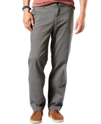 Dockers Men's Flat Front Pacific Wash Classic Fit Khakis Burma Grey