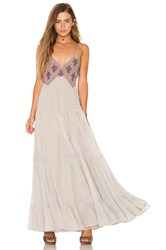 Free People Lost In A Dream Maxi Dress Gray
