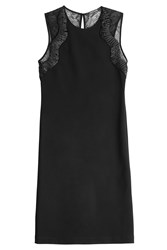 Roberto Cavalli Embellished Dress With Lace Black