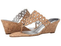 Adrianna Papell Cache Natural Gunmetal Cork Women's Wedge Shoes Tan