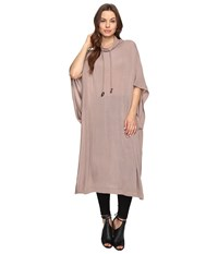Culture Phit Lachlyn Drawstring Oversized Hoodie Taupe Women's Sweatshirt