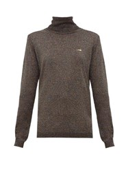 Bella Freud Bootsy Lurex Roll Neck Sweater Black