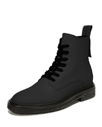 Via Spiga Kinley Lace Up Combat Boots Black
